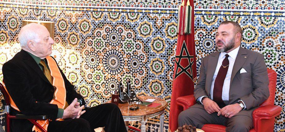 SM le Roi reçoit à Marrakech M. Pierre Bergé, président de la Fondation Jardin Majorelle