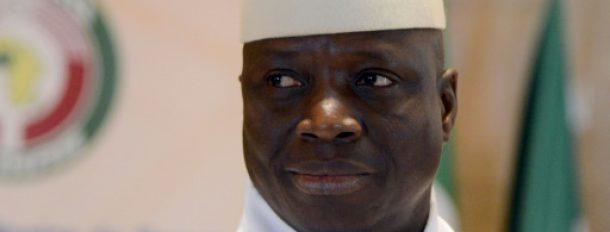 Le président sortant de Gambie Yahya Jammeh le 28 mars 2014 à Yamoussoukro, en Côte d'Ivoire  © AFP/Archives ISSOUF SANOGO