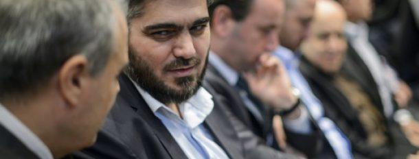 e chef de la délégation des rebelles syriens, Mohammad Allouche, le 19 avril 2016 à Genève  © AFP/Archives FABRICE COFFRINI