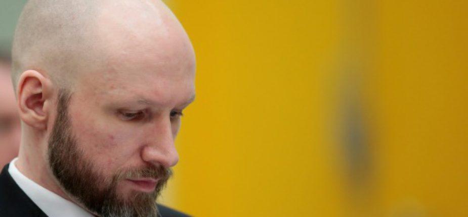 Le tueur en série néo-nazi norvégien Anders Behring Breivik lors d'un procès en appel à Skien, en Norvège, le 10 janvier 2017  © NTB Scanpix/AFP/Archives Lise AASERUD