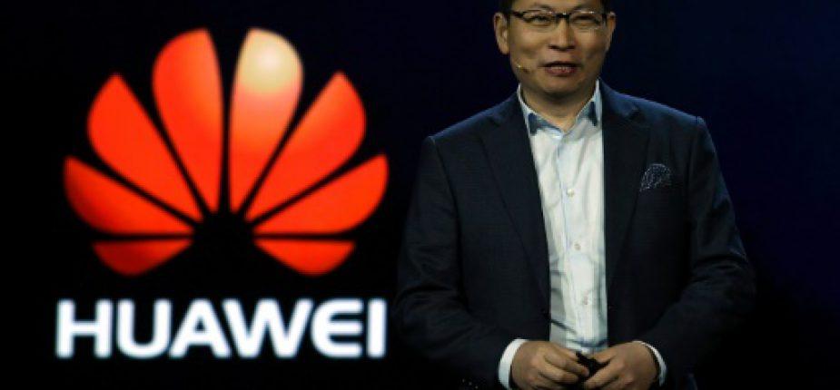 Richard Yu, le patron de la division de Huawei consacrée aux appareils grand public, au salon de Las Vegas, le 5 janvier 2017  © GETTY IMAGES NORTH AMERICA/AFP Ethan Miller