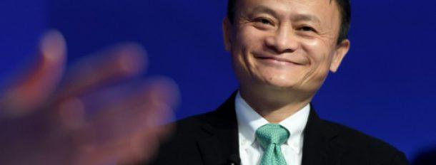 Le fondateur du groupe de commerce en ligne Alibaba, Jack Ma, à Davos, le 18 janvier 2017  © AFP FABRICE COFFRINI