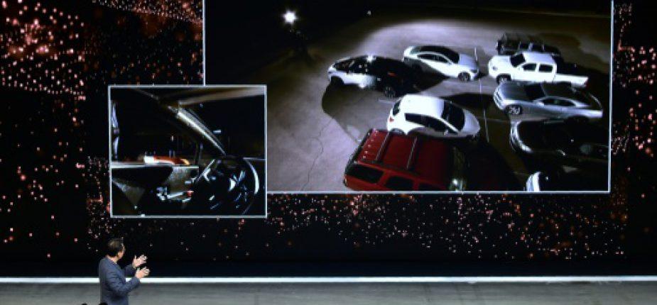 Présentation du FF91, le premier véhicule de production de Faraday Future, au salon CES de Las Vegas, le 3 janvier 2017  © AFP Frederic J. BROWN