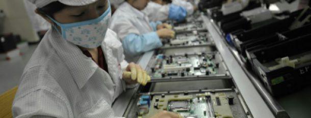 Dans l'usine Foxconn de Shenzhen, en Chine, le 27 mai 2010  © AFP/Archives STR