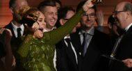 Adele triomphe aux Grammy Awards qui l'ont récompensée cinq fois le 12 février 2017 à Los Angeles © AFP VALERIE MACON