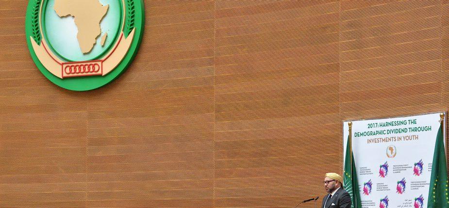 SM le Roi prononce un discours devant le 28ème sommet de l'Union africaine (UA) à Addis-Abeba.