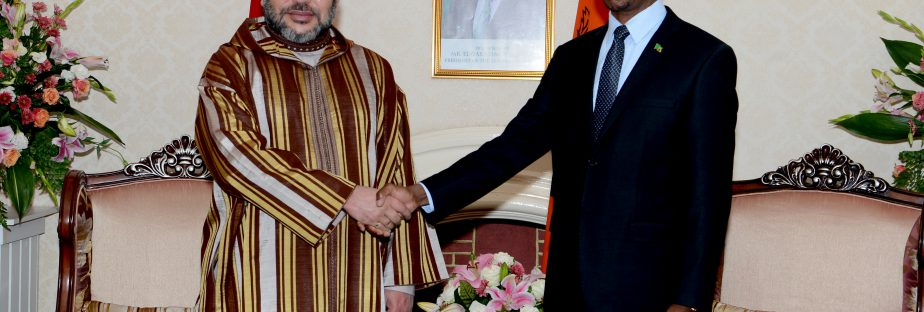 SM le Roi s'entretient au palais présidentiel à Lusaka avec le Président zambien, SEM. Edgar Chagwa Lungu