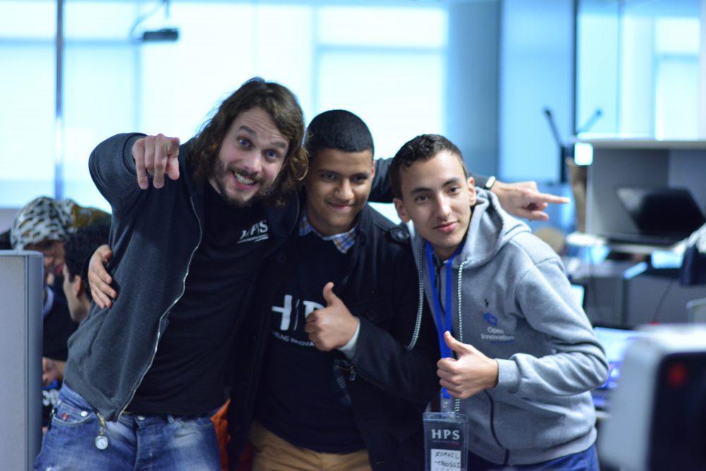 Gilles Réant, responsable du paiement mobile chez HPS a joué un très grand rôle au côté des autres top managers d'HPS durant ce hackathon !