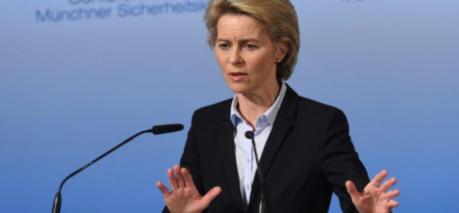 La ministre allemande de la Défense, Ursula von der Leyen, le 17 février 2017 à Munich  © AFP Christof STACHE