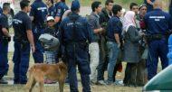 Des demandeurs d'asile, le 25 juin 2015 dans la ville hongroise de Röszke, à la frontière avec la Serbie  © AFP/Archives CSABA SEGESVARI