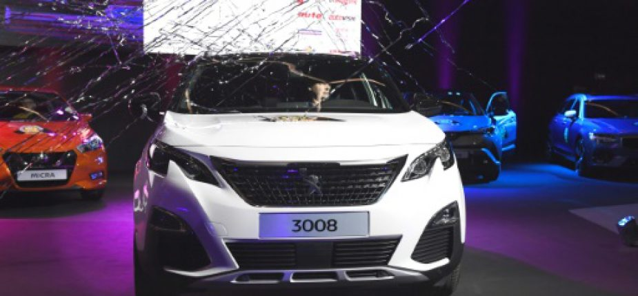 La peugeot 3008, ici le 6 mars 2017 au salon de l'automobile de Genève, a été désignée voiture européenne de l'année  © AFP ALAIN GROSCLAUDE