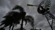 Ciel chargé à l'approche du cyclone Debbie, le 28 mars 2017 à Ayr, dans le nord du Queensland, en Australie  © AFP PETER PARKS