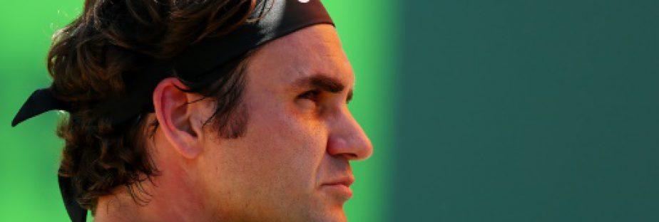Le Suisse Roger Federer au cours du match qu'il a remporté face à l'Argentin Juan Martin Del Potro à Miami , Floride (Etats-Unis), le 27 mars 2017  © GETTY IMAGES NORTH AMERICA/AFP AL BELLO