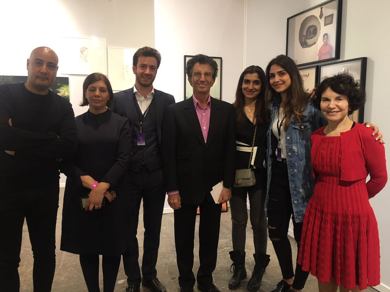 Jack Lang, ancien ministre et président de l'Institut du Monde Arabe avec l'équipe Loft